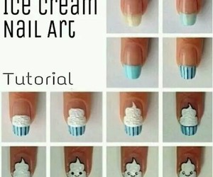 nails, ice cream, and tutorial image