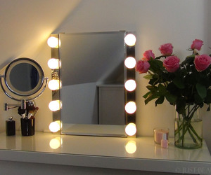 home, make-up, and mirror image