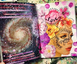 art journal, artist, and Collage image