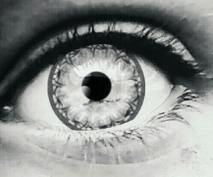 beautiful, black&white, and oeil image