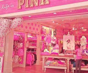 pink, Victoria's Secret, and shop image