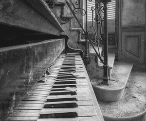 piano, old, and music image