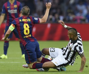 football, champions league, and fc barcelona image