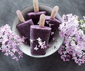 flowers, ice cream, and purple image