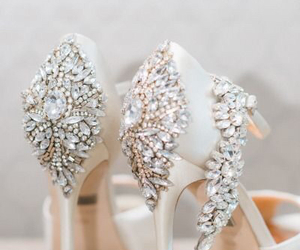 shoes, wedding, and white image