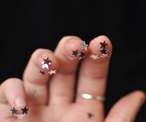 stars, hand, and photography image