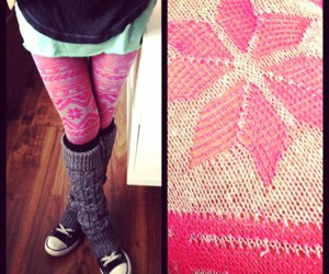empowering, leggings, and snow flakes image