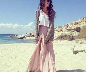 fashion, beach, and girl image