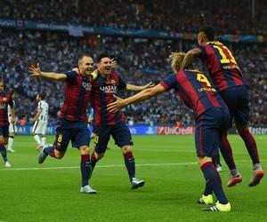neymar, messi, and iniesta image