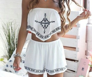 girls, outfit, and white image