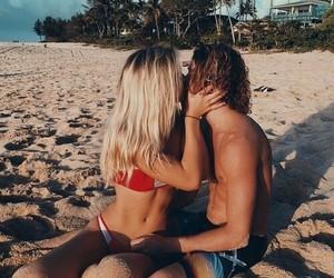 beach, kiss, and summer image