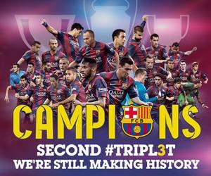 champions, Barca, and football image