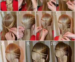 beauty, hairstyles, and hairs image