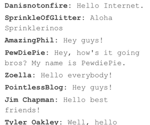 zoella, pewdiepie, and amazing phill image