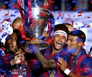 neymar, champions, and Barcelona image
