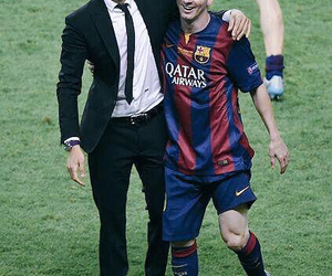 lucho, fc barcelona, and messi image