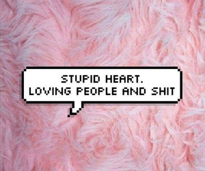 love, pink, and heart image
