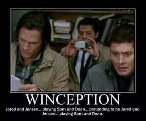 dean winchester, jared padelecki, and castiel image