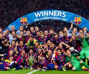 Barcelona, champion, and Barca image