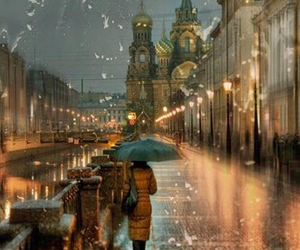 rain, city, and russia image
