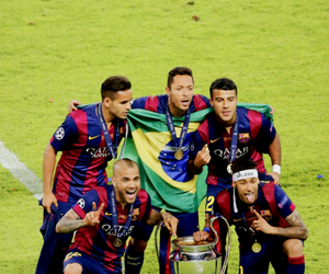 champions league and fc barcelona image