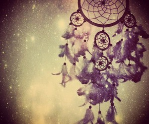 Dream, galaxy, and dreamcatcher image