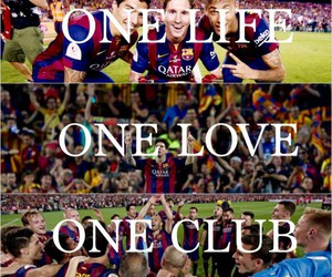 Barca, champion, and football image