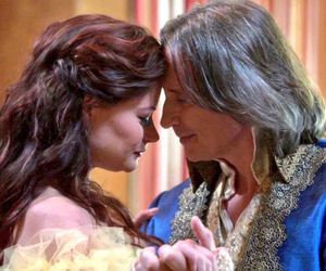 rumbelle, beauty and the beast, and once upon a time image