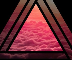 background, triangle, and pink image