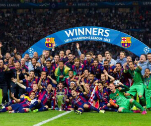 Barcelona, champions, and winners image