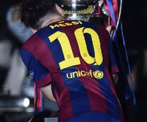 messi, champion, and Barcelona image