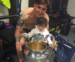 champions league and messi image