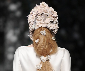 fashion, hair, and floral image