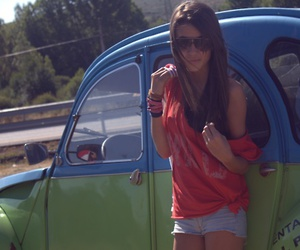 car, cool, and girl image