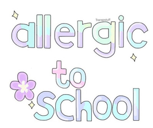 school, overlay, and allergic image