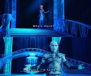 game of thrones, frozen, and funny image