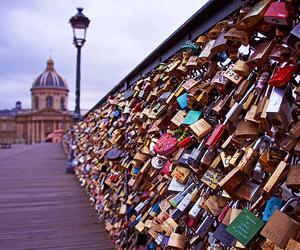 bridge, love lock, and love image