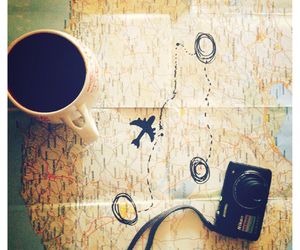 camera, coffe, and fly image