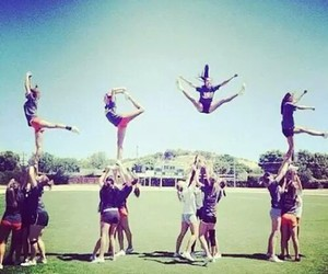 love, cheerleader, and cheerleading image