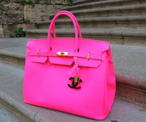 beautiful, pink bag, and in love with fashion image