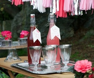 pink decor, graduation party ideas, and summer party decor image