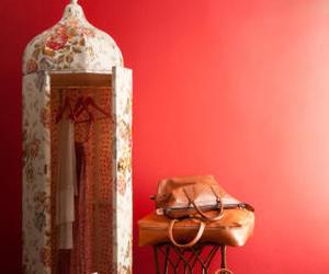 bedroom, wardrobe, and pink image