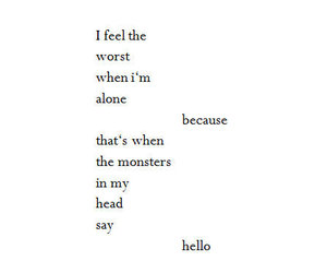 alone, feel, and head image