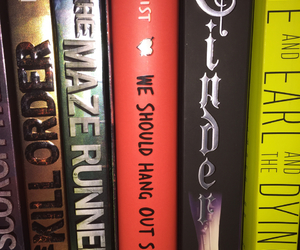 books, cinder, and maze runner image