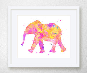 art, wall art, and elephant image