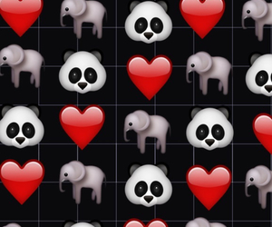 wallpaper, panda, and emoji image