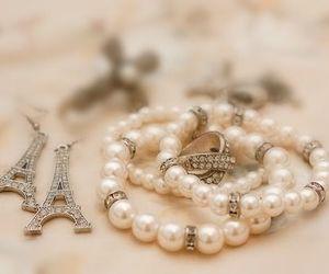 paris, pearls, and bracelet image