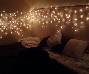 beautiful, christmas lights, and girl image