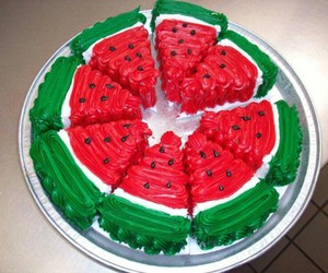 cake, watermelon, and sweet image