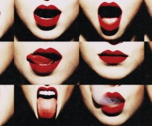 lips, red, and black image